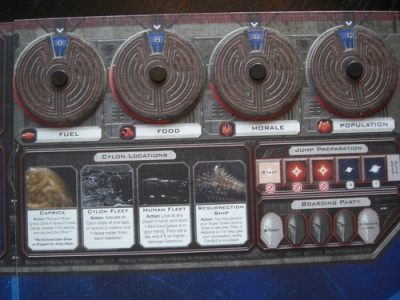Resource wheels for Battlestar Galatica board game