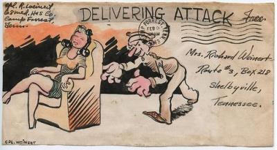 Illustrated Envelopes from World War II from Corporal Weinert