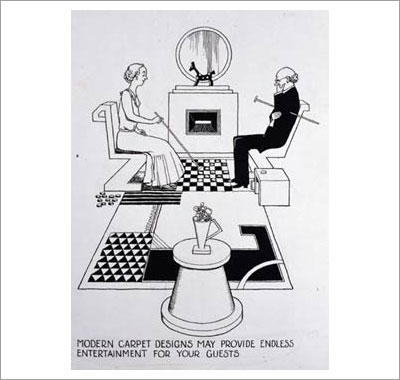 Modern Carpet Designs may provide endless entertainment for your guests. By William Heath Robinson