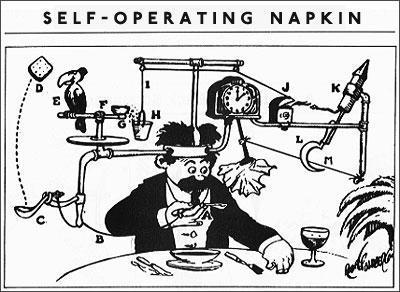 Rube Goldberg — A Self-Operating Napkin