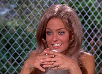 Farrah Fawcett guest starring on I Dream of Jeannie