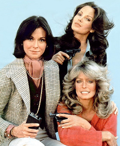 Kate Jackson, Jaclyn Smith and Farrah Fawcett of Charlie's Angels