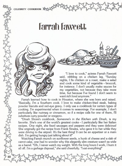 Farrah Fawcett: Celebrity Cookbook, 1981