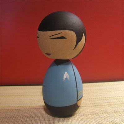 Spock Kokeshi doll
