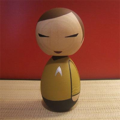 Captain Kirk Kokeshi doll