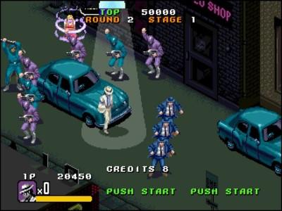 Screenshot from Michael Jackson's Moonwalker Sega game from 1990