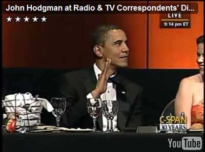 President Obama gives a Vulcan salute!