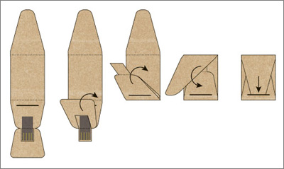 Boardy Origami USB Stick