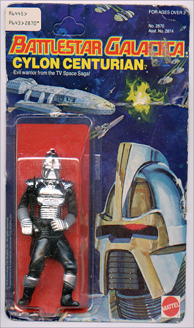 Battlestar Galactica Cylon Centurian three and three quarter inch action figure  from 1978