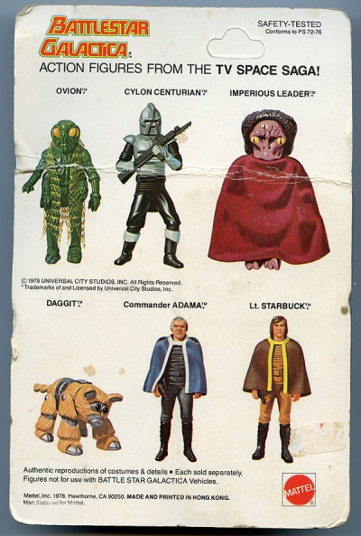 Battlestar Galactica Cylon Centurian: Back of the Box