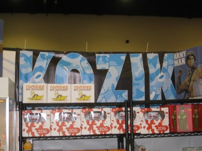 Kozik's booth and his new releases.