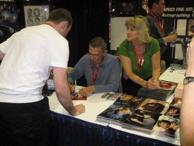 Leonard Nimoy signing! ($60 per autograph, which was still cheaper than Mark Hamill's $100 per autograph)