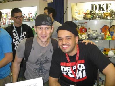 FOOX and Erick Scarecrow at FOOX Munky King signing