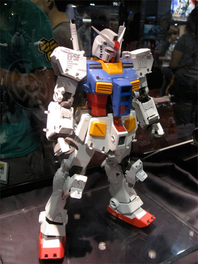 A Mobile Suit Gundam Toy from the San Diego Comic-Con 2009
