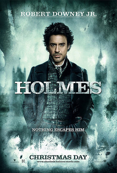 Holmes film poster with Robert Downey Jr.