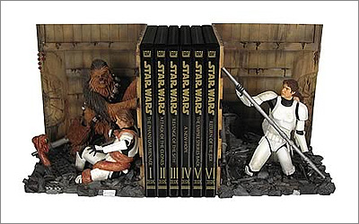 Star Wars Trash Compactor Bookends Statue