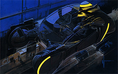Syd Mead really defined the look of Blade Runner with his amazing preproduction paintings