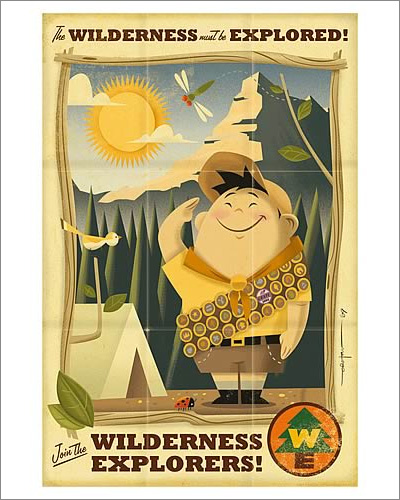Disney-Pixar Up Wilderness Must Be Explored Giclée Print