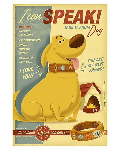 Disney-Pixar Up I Can Speak Paper Giclée Print