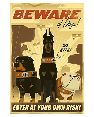 Disney-Pixar Up Beware of Dogs Paper Giclée Print