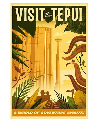 Disney-Pixar Up Visit The Tepui Paper Giclée Print