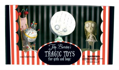 Tim Burton PVC Set - Pin Cushion Queen Set: Pin Cushion Queen, Brie Boy, and Staring Girl