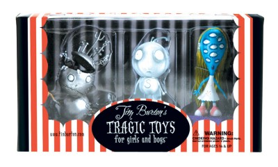Tim Burton PVC Set - Stain Boy Stain Boy, Robot Boy, and The Girl with Many Eyes