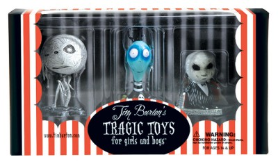 Tim Burton PVC Set - Toxic Boy Toxic Boy, Mummy Boy, and Penguin Boy