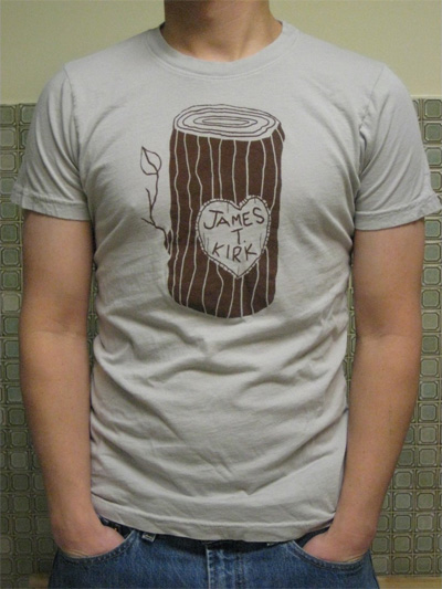Captain's Log Handprinted Star Trek T-shirt