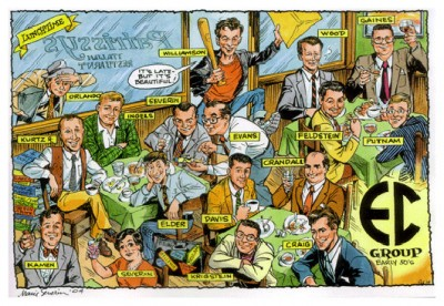 EC Comics staff in the 50s illustrated by Marie Severin