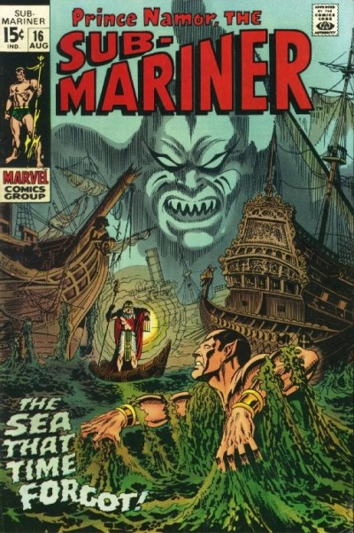 Sub-Mariner #16 Aug 1969: Cover by Marie Severin and Frank Giacoia