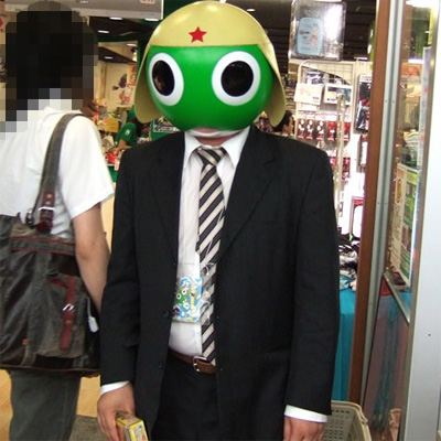 Keroro Masked Shop Manager in Akihabara Kind of Creeps Me Out
