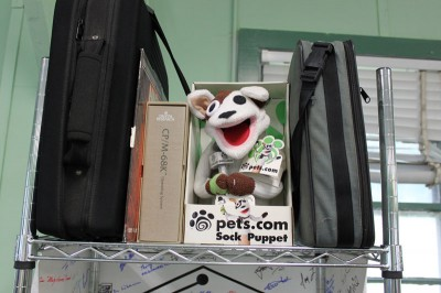 Vintage Computer Festival East 6.0: Pets.com mascot from the dot.com era of the late 90s