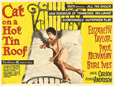 Cat on a Hot Tin Roof: Poster from 1958