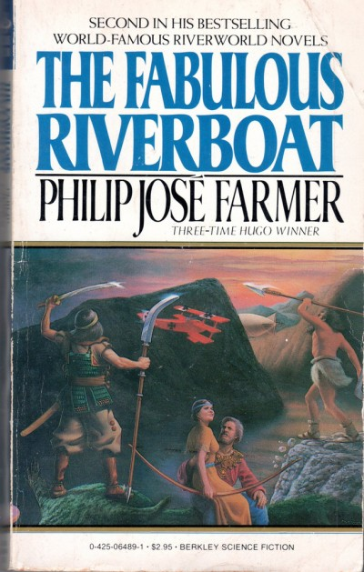 Don Ivan Punchatz illustration for The Fabulous Riverboat by Philip Jose Farmer, 1983