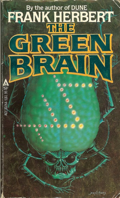 Don Ivan Punchatz illustration for the Green Brain by Frank Herbert, 1979