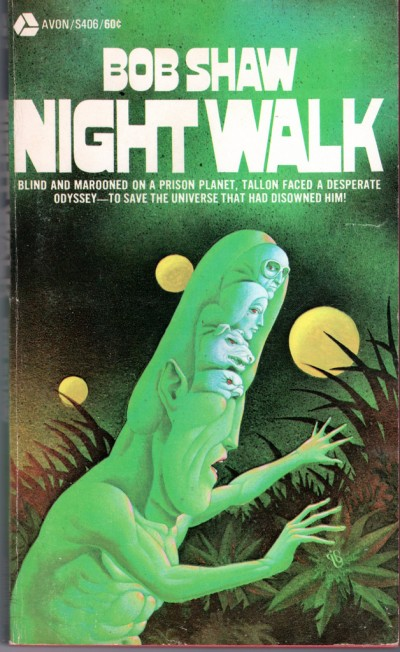 Don Ivan Punchatz illustration for Nightwalk by Bob Shaw, 1970