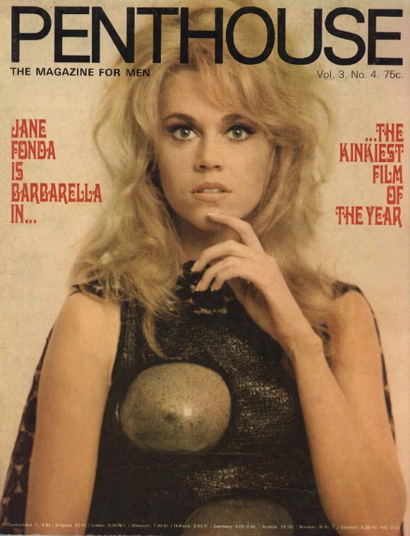 Jane Fonda as Barbarella featured on the cover of Penthouse