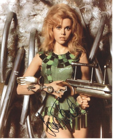 Barbarella: An autographed photo of Jane Fonda