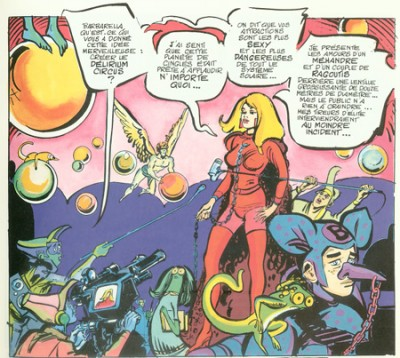 Barbarella started life as a Comic Book