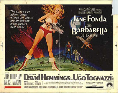 Barbarella poster from the 60s