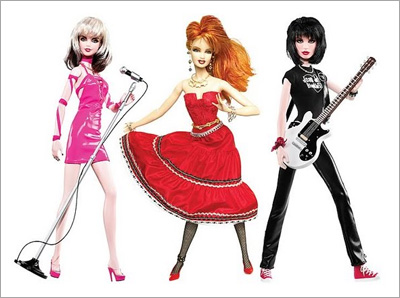 Blondie, Joan Jett and Cyndi Lauper are now Barbie dolls!