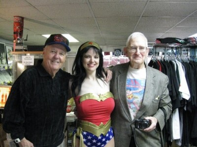Joe Sinnott, Amber as Wonder Woman, and Pete Marston