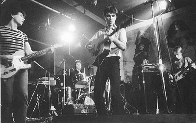 Talking Heads live at CBGB, 1977.