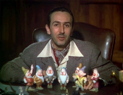 Walt Disney talking about some crazy idea for a film called Snow White and the Seven Dwarfs