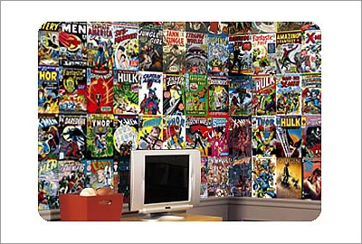 Marvel Comic Book Chair Rail Prepasted Wall Mural Part 24