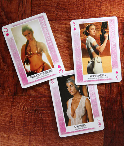 The Ladies of Star Wars Playing Cards