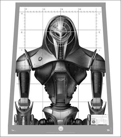 Cylon Centurion Replica Target Poster