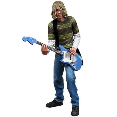 Kurt Cobain 7 inch Action Figure with Skyblue Guitar by NECA