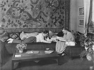 Fritz Lang and his wife Thea von Harbou in their Berlin apartment, 1923 or 1924